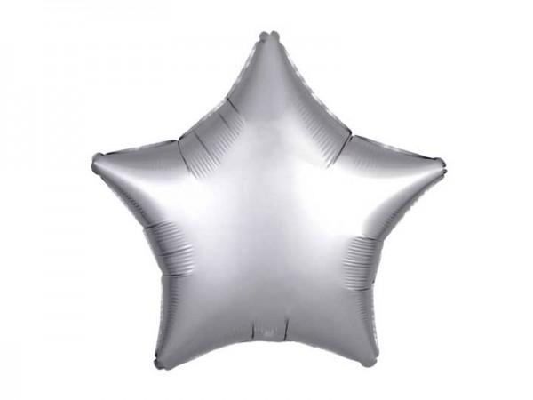 Folienballon Stern silber