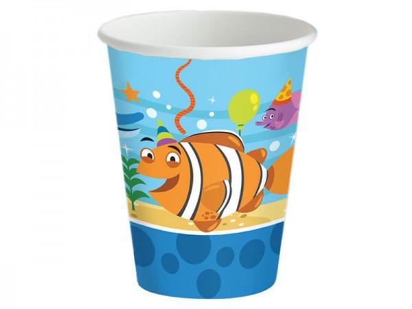 Partybecher Ocean Buddies Pappbecher Unterwasserwelt