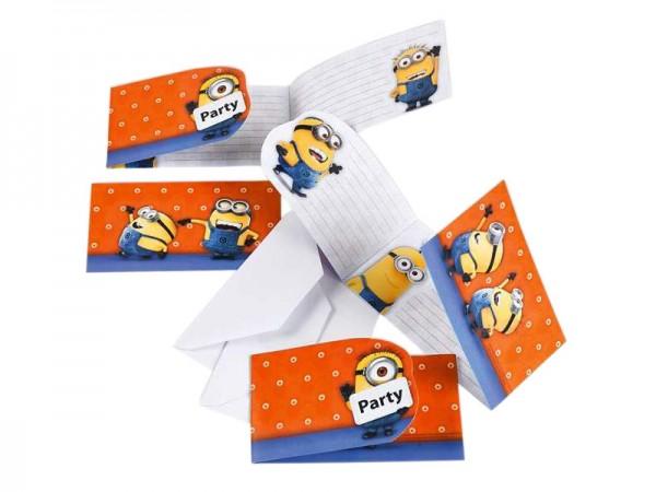 Geburtstagseinladungen Minions Einladungskarten Kindergeburtstag