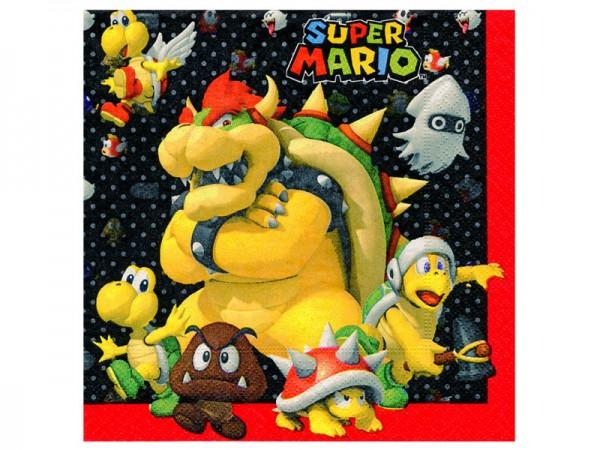 Super Mario Servietten mit Bowser als Motiv