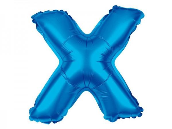 Folienballon Buchstabe X blau Buchstabenballon