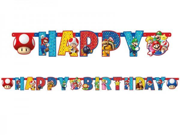 Buchstabenkette Super Mario Girlande Happy Birthday
