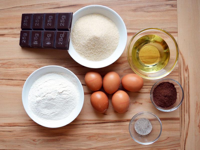 Zutaten für Geburtstagskuchen Brownies