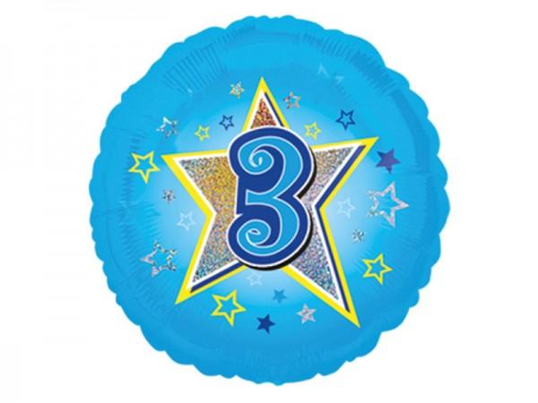 Zahlenluftballon 3. Geburtstag