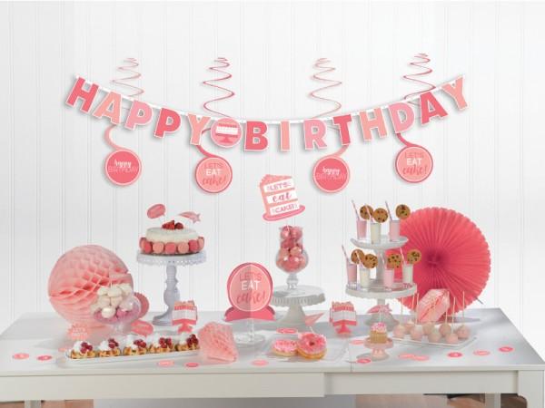 Rosa Geburtstagsdeko-Set für die Geburtstagsparty