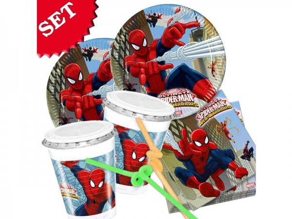 Partygeschirr-Set Spiderman Partygedeck