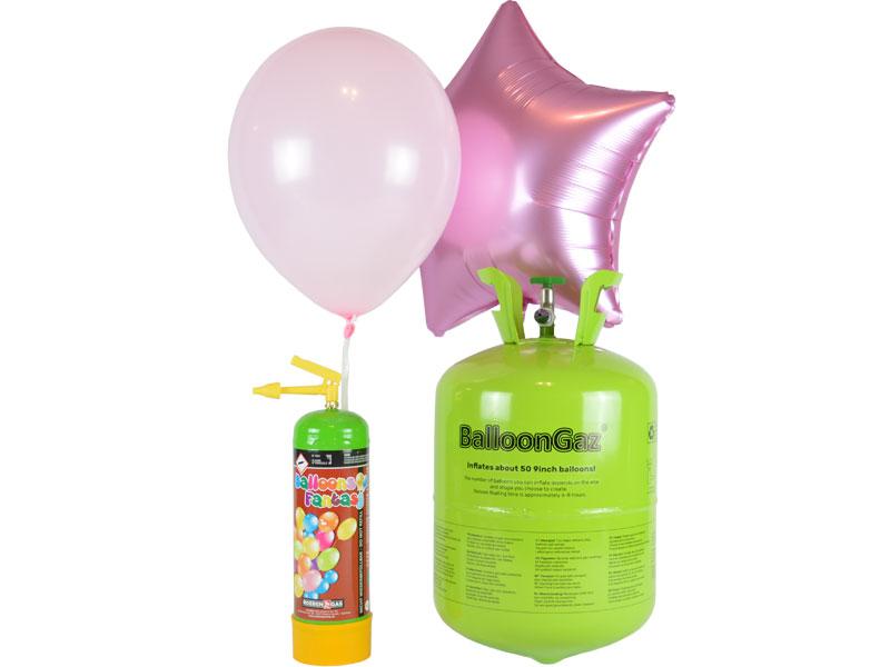 Luftballons mit Helium aufblasen 2