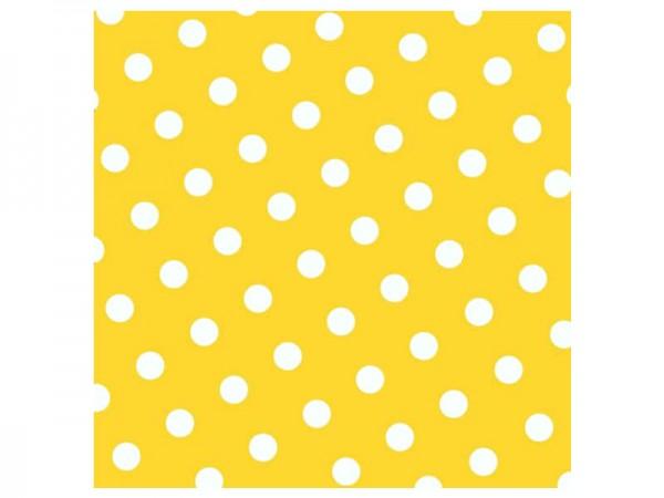 Servietten gelb mit weißen Punkten