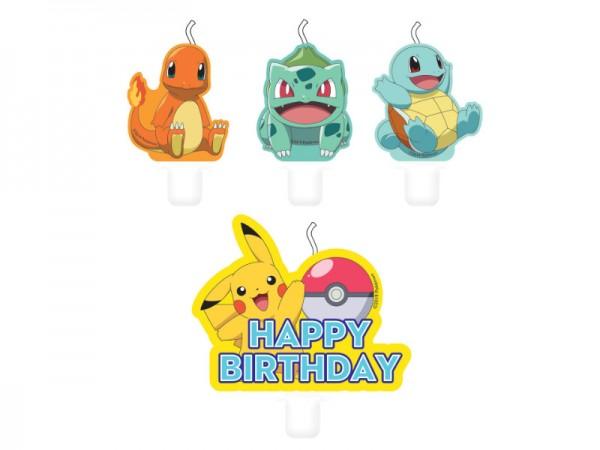 4 Pokemon Geburtstagskerzen