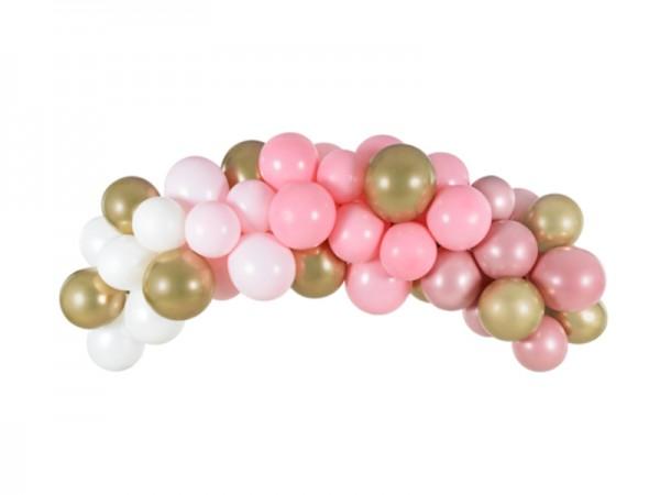 Ballongirlande rosa-gold