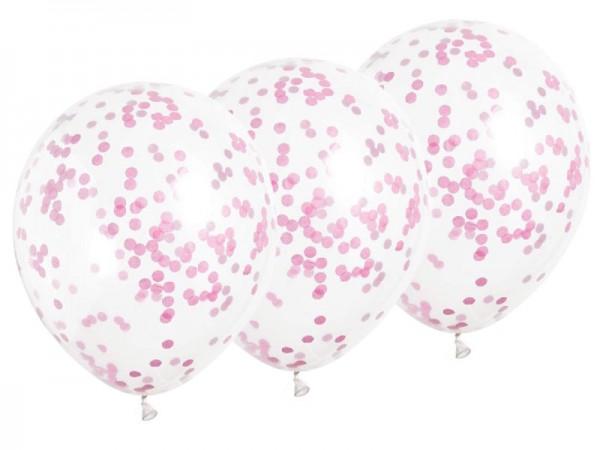 Konfettiballons pink Konfettiluftballons