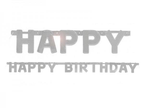 Buchstabenkette Happy Birthday silber