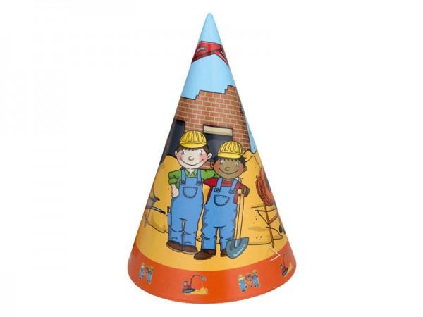 Partyhüte Baustelle Bauarbeiter