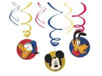 Dekospiralen Mickey Mouse Spiralen 6 Stk.