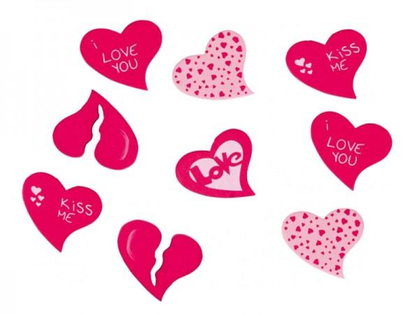 Herzkonfetti aus Holz Herzen Herzkonfetti