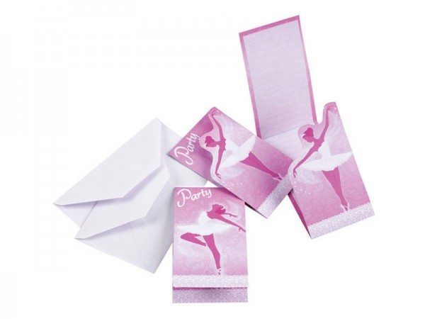 Geburtstagseinladungen Ballerina Einladungskarten Ballett Kindergeburtstag