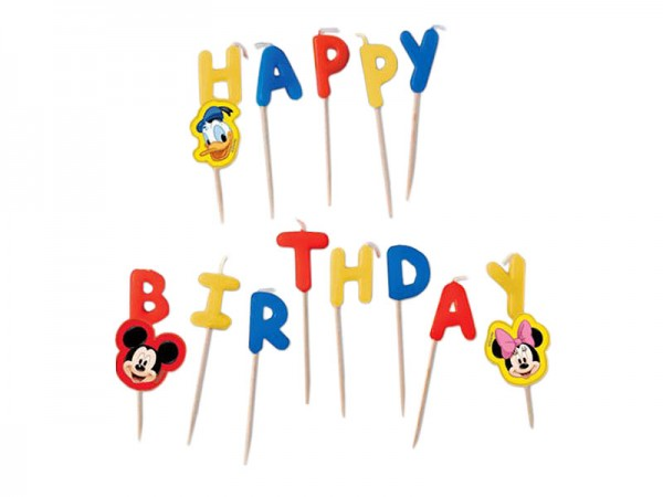 Geburtstagskerzen Mickey Mouse Happy Birthday Kerzen