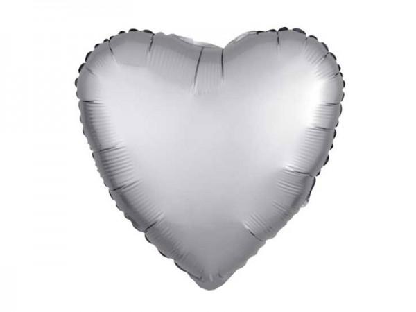 Folienballon Herz silber