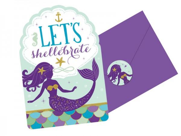 Geburtstagseinladungen Meerjungfrau Einladungskarten Mermaid Kindergeburtstag