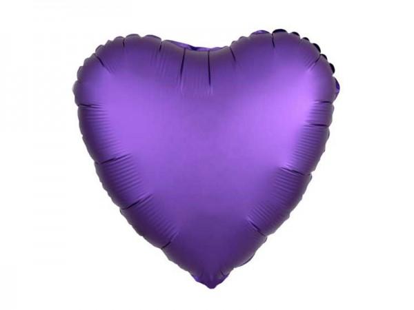 Folienballon Herz lila