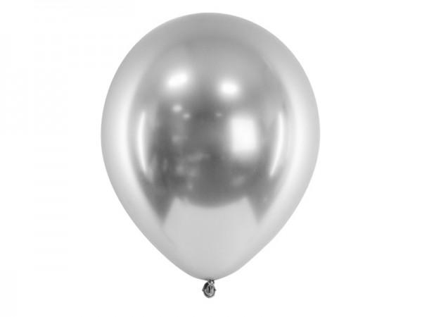 Luftballons silber metallic glossy Ballons