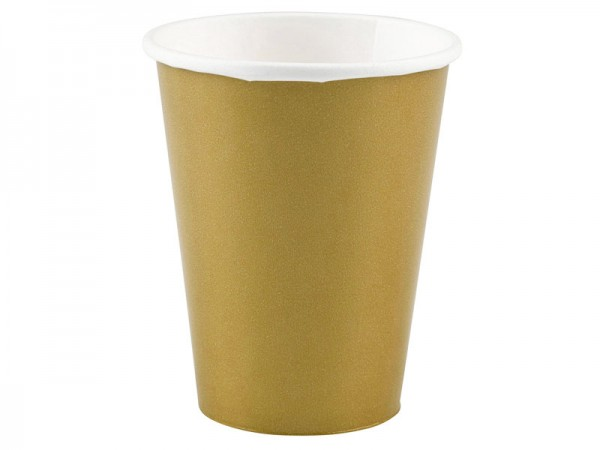 Partybecher gold Pappbecher