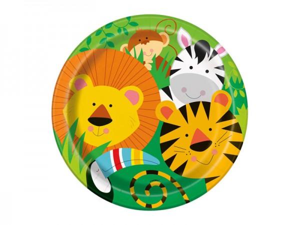 Pappteller Dschungeltiere Safari Partyteller
