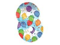 Zahlenballon Zahl 8 bunt