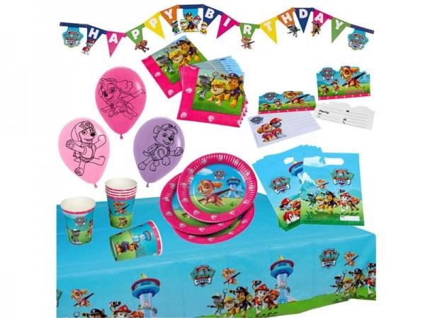 Geburtstagsdeko Set Paw Patrol Skye Partydeko Set für Kindergeburtstag