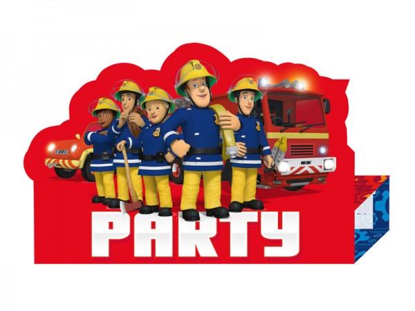 Geburtstagseinladungen Feuerwehrmann Sam Einladungskarten Kindergeburtstag