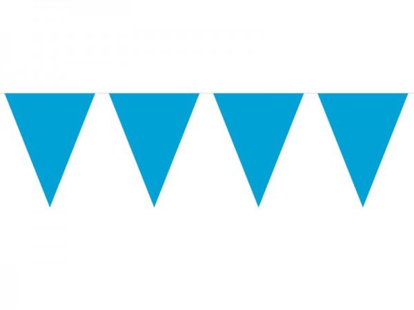 Wimpelkette blau 10m Wimpelgirlande