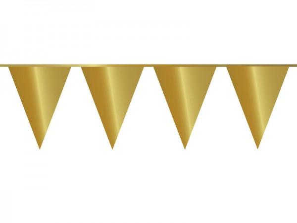 Wimpelkette glänzend gold