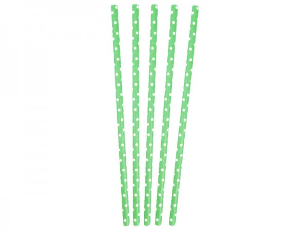 Papierstrohhalme grün Papiertrinkhalme