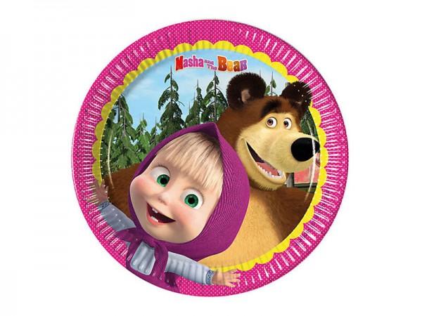 Pappteller Mascha und der Bär Partyteller