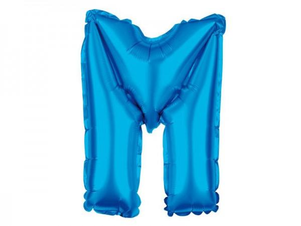 Folienballon Buchstabe M blau Buchstabenballon