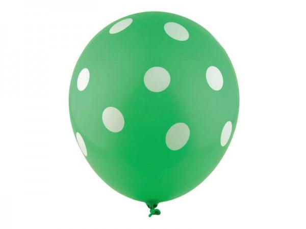 Luftballons grün mit weißen Punkten