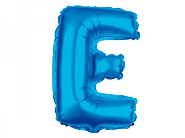 Folienballon Buchstabe E blau Buchstabenballon