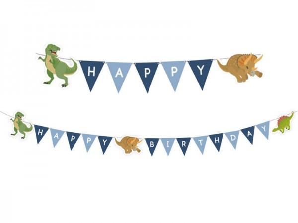 Buchstabenkette Dinosaurier Girlande