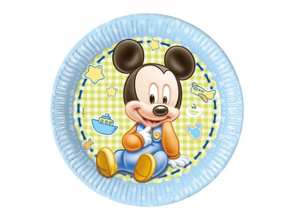 Pappteller Baby Mickey Mouse Partyteller