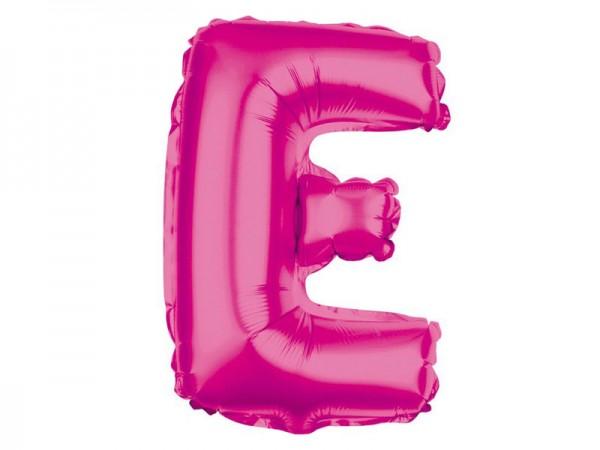 Folienballon Buchstabe E pink Buchstabenballon