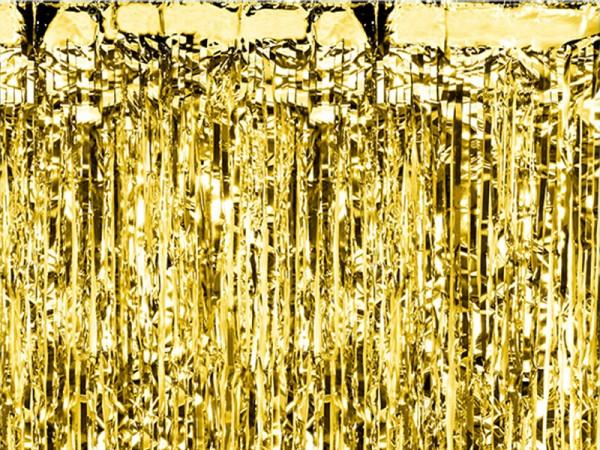 Lametta Vorhang gold Glittervorhang