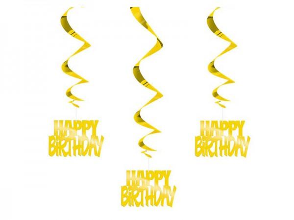 Dekospiralen Happy Birthday Gold Spiralen