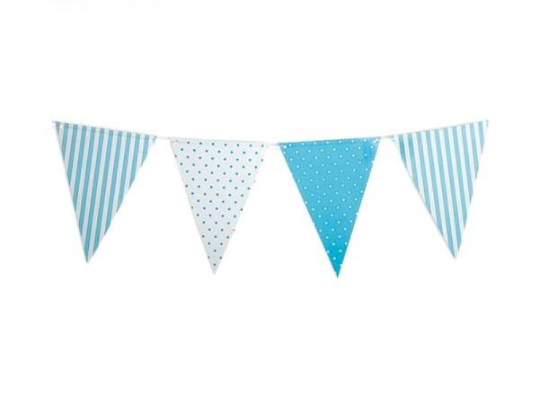 Wimpelkette hellblau-weiß