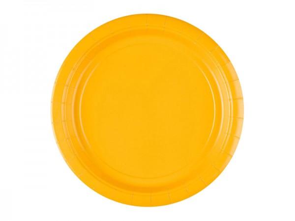 Pappteller gelb Partyteller