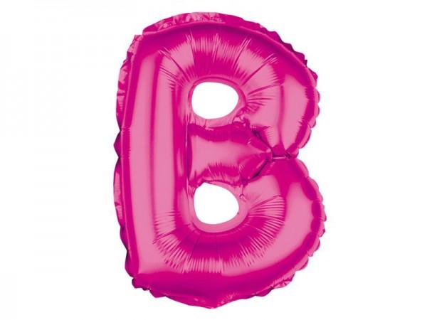 Folienballon Buchstabe B pink Buchstabenballon