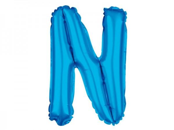 Folienballon Buchstabe N blau Buchstabenballon