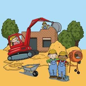 Baustellen Motto Kindergeburtstag