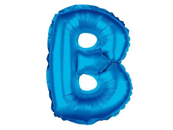 Folienballon Buchstabe B blau Buchstabenballon