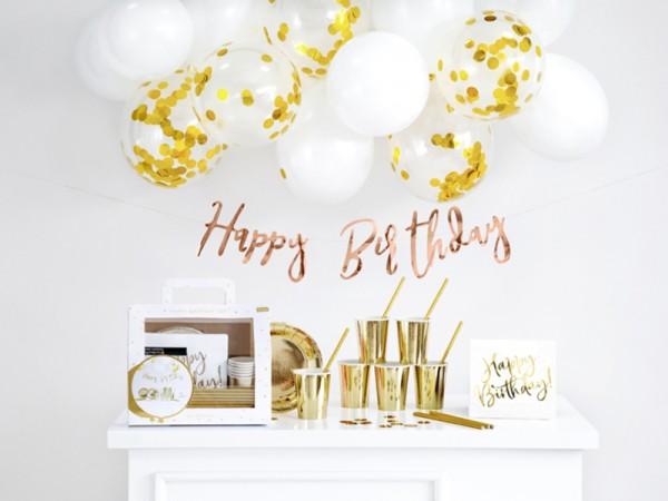 Geburtstagsdeko-Set Gold in praktischer Partybox
