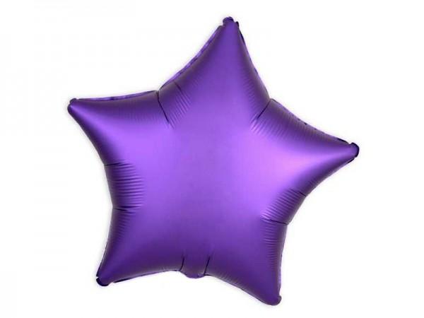 Folienballon lila Stern